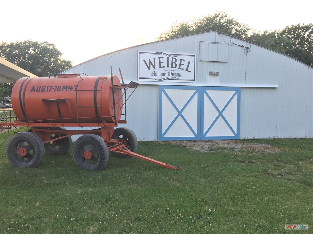 Exterior of Weibel Antique Farm Equipment Museum